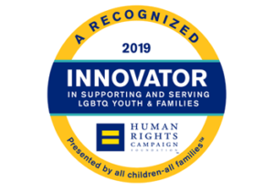 human rights innovator lgbtq logo