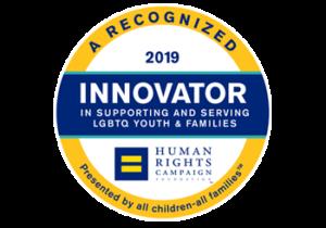 human rights innovator lgbtq logo
