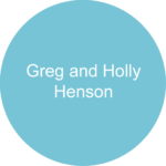 Greg and Holly Henson Blue circle sponsor logo