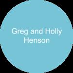 Greg and Holly Henson Blue circle sponsor logo