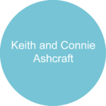 Keith and Connie Ashcraft Blue circle sponsor logo